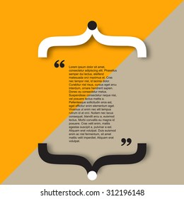 Quote citation Typographical Poster Template. Light  color version.