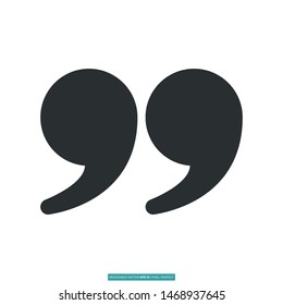 Quote close icon vector illustration logo template for many purpose