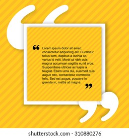 Quote creative citation Typographical Poster Template. Light yellow color version. For your commercial project or personal use.