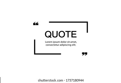 Quote frame notes. Layout for links and digital information. A simple source for advertising.  Quote frame and notes templates vector set.