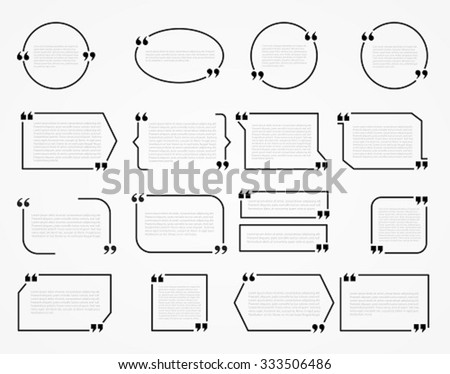 quote frames blank template print information stock vector royalty