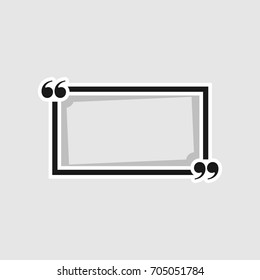 quote frames isolated on white background. Vector illustration. Eps 10.