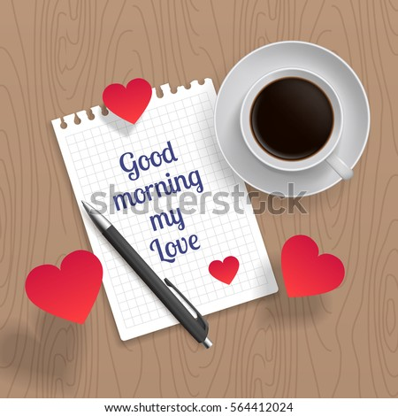 Quote Good Morning My Love Romance Stock Vector Royalty Free