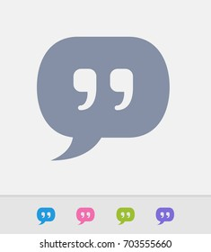 Quote - Granite Icons. A professional, pixel-perfect icon designed on a 32x32 pixel grid and redesigned on a 16x16 pixel grid for very small sizes