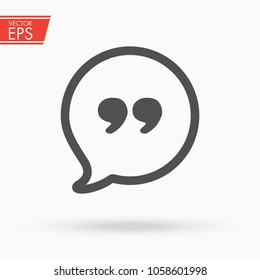 Quote icon. Chat, question icon. Cloud Ask Question symbol. Speech bubble comunication vector illustration.