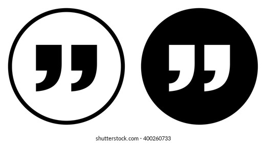 Quote icon in circle . Vector illustration