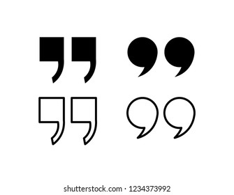 Quote icon. Quotation paragraph symbol. double comma mark. bubble dialogue speech sign. vector illustration