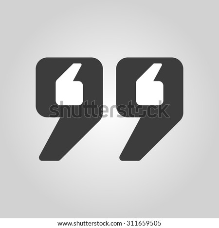 Quote Icon Quotation Symbol Flat Vector Stock Vector Royalty Free Best Quote Symbol