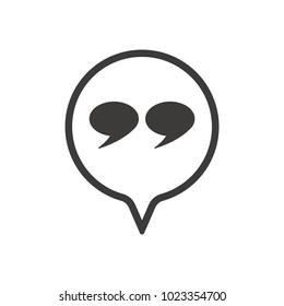 Quote  icon, vector, flat design