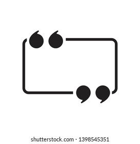 Quote icon vector flat style illustration