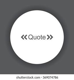 quote Icon icon, vector illustration. Modern design. Flat design style