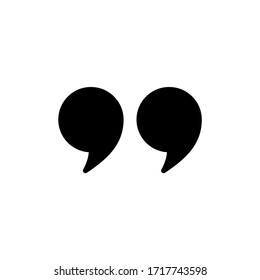 Quote icon vector isolated on white background