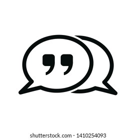 Quote icon vector logo illustration