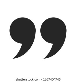 quote icon vector sign design on white background