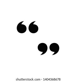 quote icon vector template design