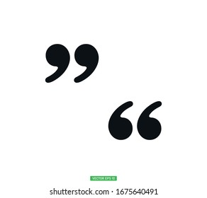 Quote icon vector in trendy template