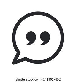 quote illustration icon vector symbol, eps 10