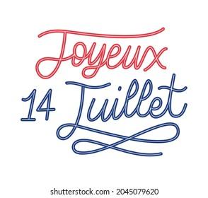 quote of joyeux 14 juillet, line color style