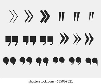 quote marks set quotation mark symbols  citation icons