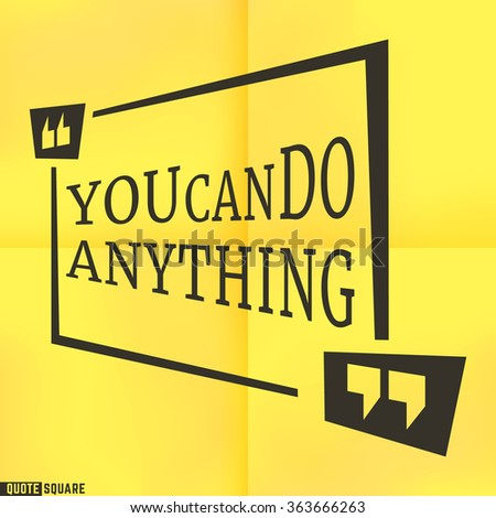 quote motivational square template inspirational quotes stock vector