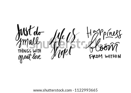 quote poster inspirational words motivate saying stock vector