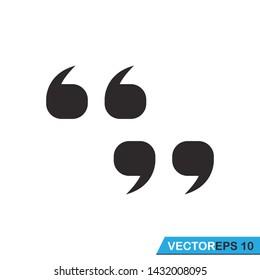 quote set  icon vector design template