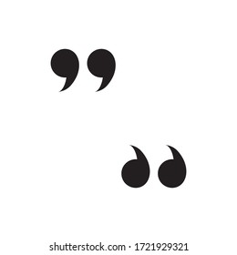 Quote Sign Icon Design Logo Vector Template
