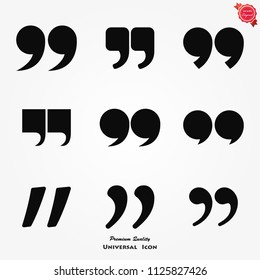 Quote sign icon. Quotation mark in speech bubble symbol. Double quotes.