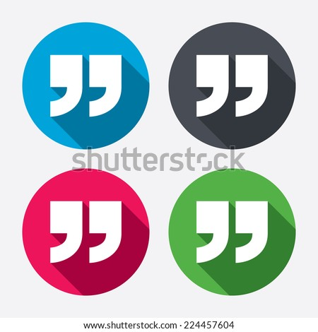 Quote Sign Icon Quotation Mark Symbol Stock Vector Royalty Free Mesmerizing Quote Symbol