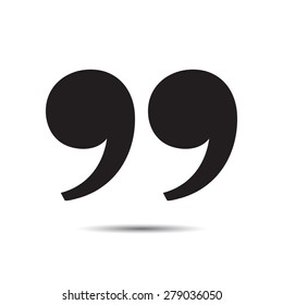 Quote sign icon. Vector