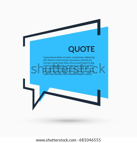 quote speech bubble blank template text のベクター画像素材