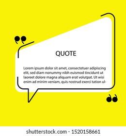 Quote speech bubble. Vector illustration
