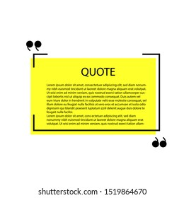 Quote template background vector against white background. creative art template.