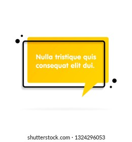 Quote text bubble. Commas, note, message and comment Vector illustration