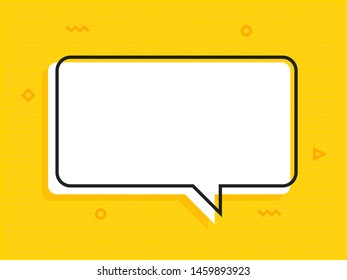 Quote text bubble. Note, message and comment Vector illustration