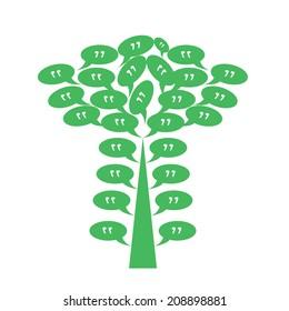 Quote tree icon vector ESP 10
