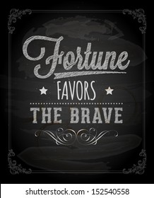 Royalty Free Fortune Favors The Brave Stock Images Photos