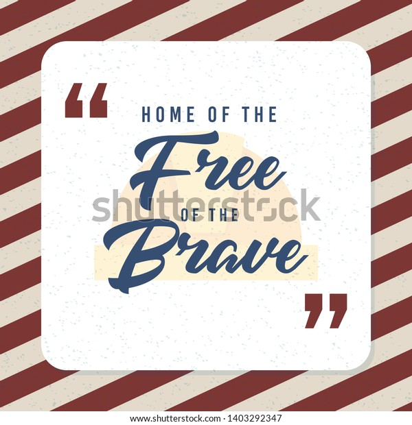 quote typographical home because brave stock vector royalty