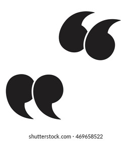 Quote vector icon isolated