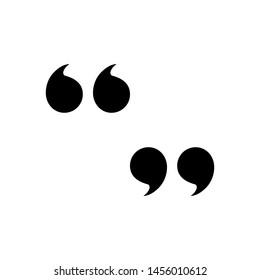 Quote vector icon in trendy template. Black color