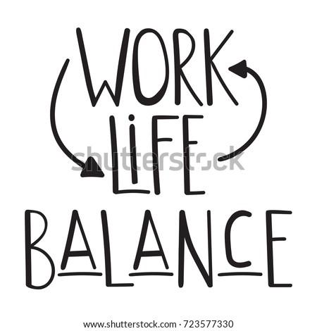 Quote Work Life Balance Vector Inspirational Stock Vector Royalty Best Work Life Balance Quote