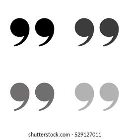 quotes  - black vector icon