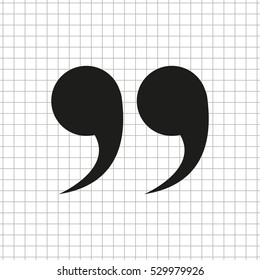 quotes  - black vector icon