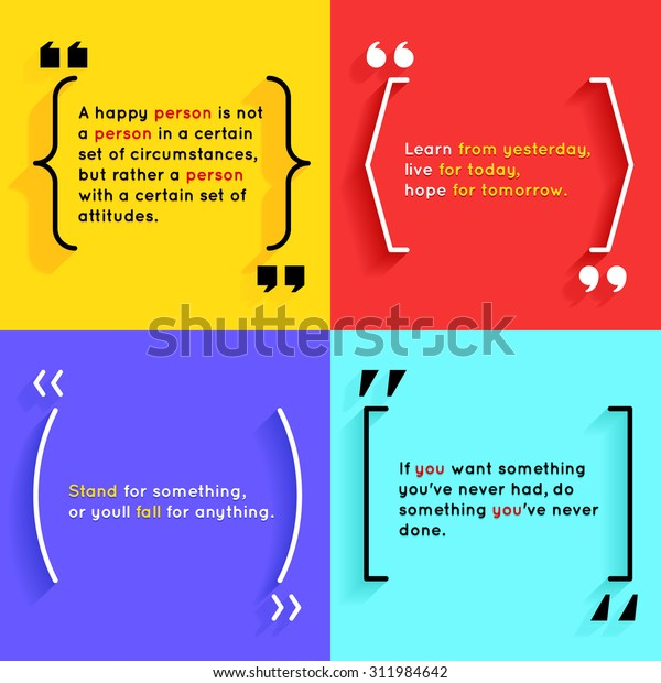 Quotes and brackets Speech Bubbles. Short quotes in quotation marks
