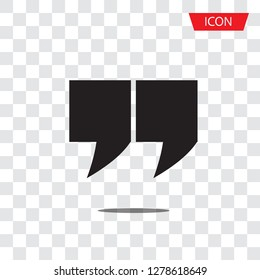 Quotes icon vector ,Quotation mark icon isolated on white background.
