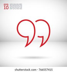 quotes line vector icon