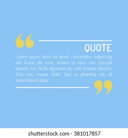 Quotes Template in flat style Colored Flat Quotes Vector