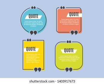 Quotes Templet Design Simple Minimalis