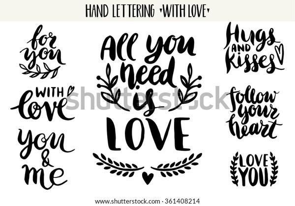 Citaten Valentijn Belettering Liefde Collectie