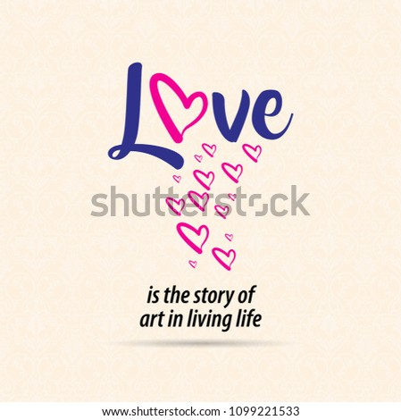 Quotes Vector Love Story Art Living Stock Vector Royalty Free